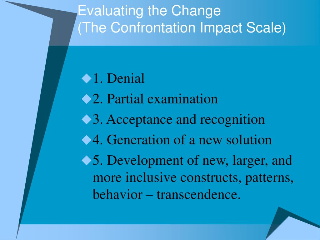 Evaluating the Change