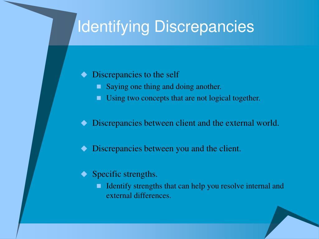Identifying Discrepancies