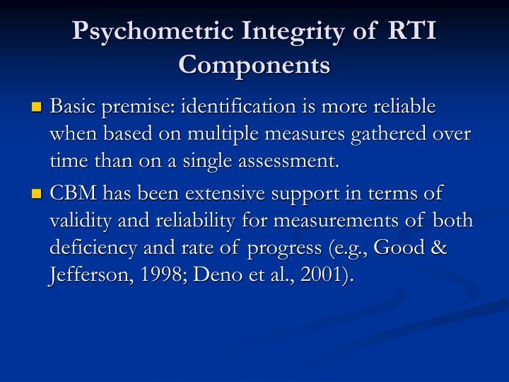 Psychometric Integrity of RTI Components