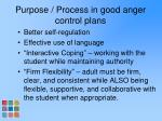purpose process in good anger control plans