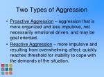 two types of aggression
