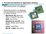 4 provides the interface for application software