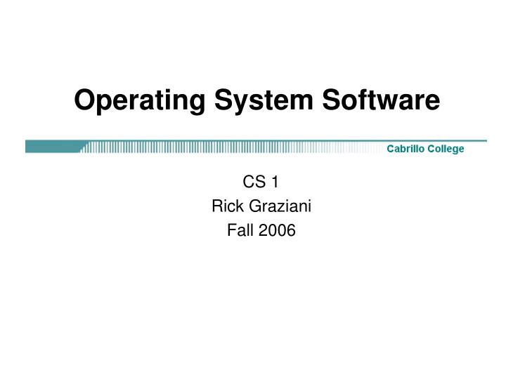 operating system software n.