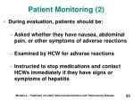 patient monitoring 2