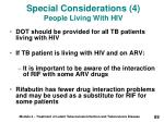 special considerations 4 people living with hiv