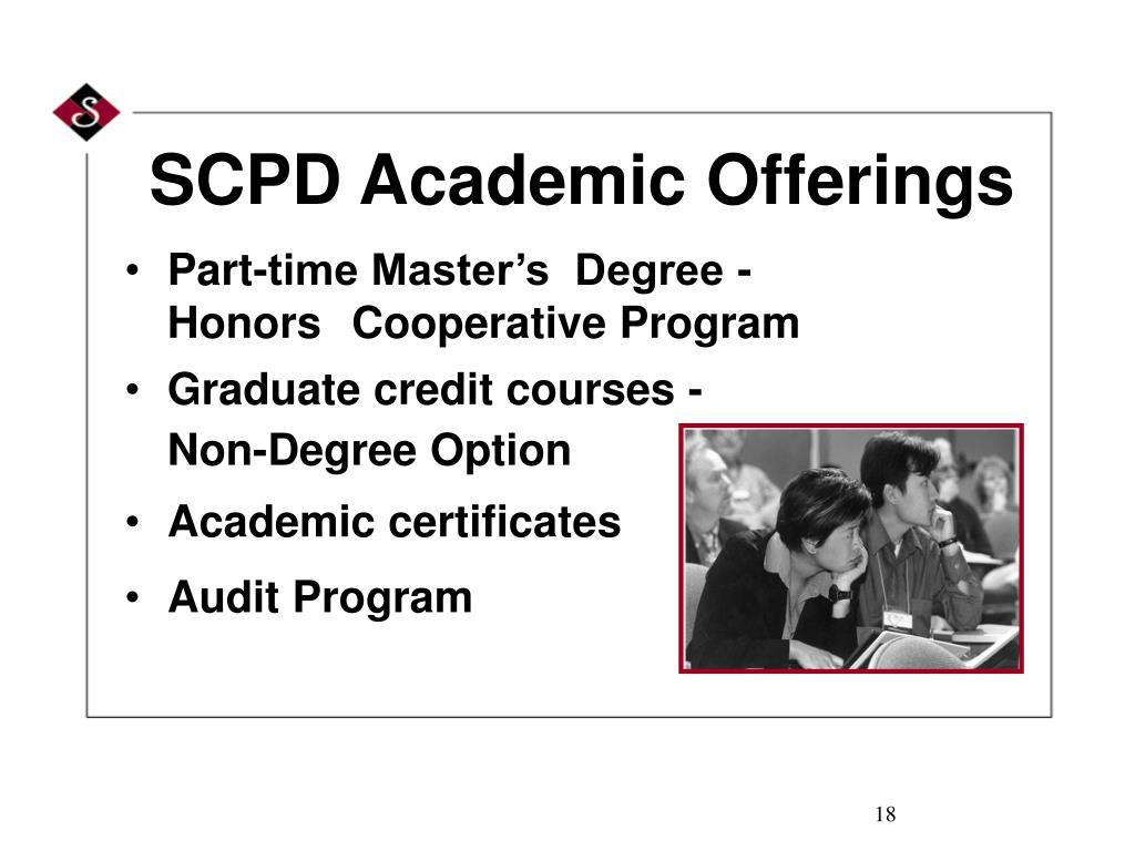 SCPD Academic Offerings