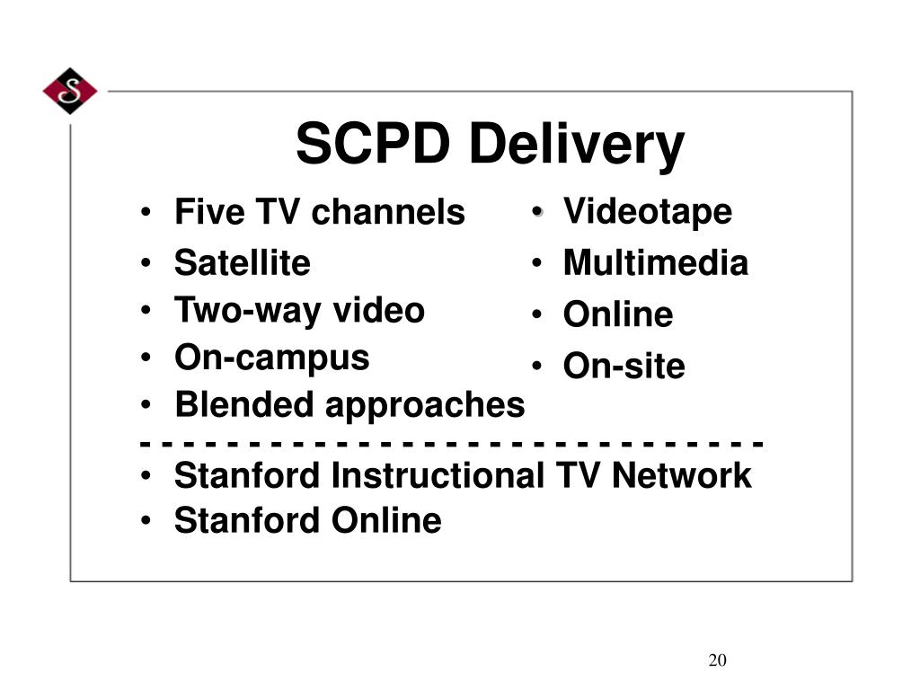 SCPD Delivery