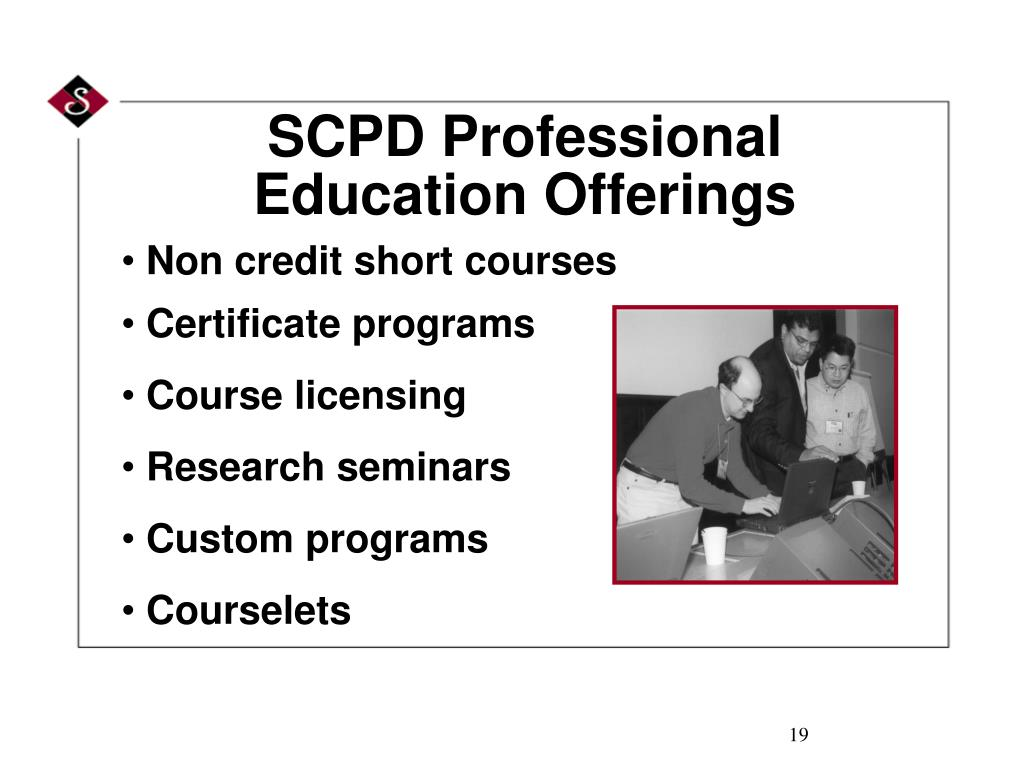 SCPD Professional Education Offerings