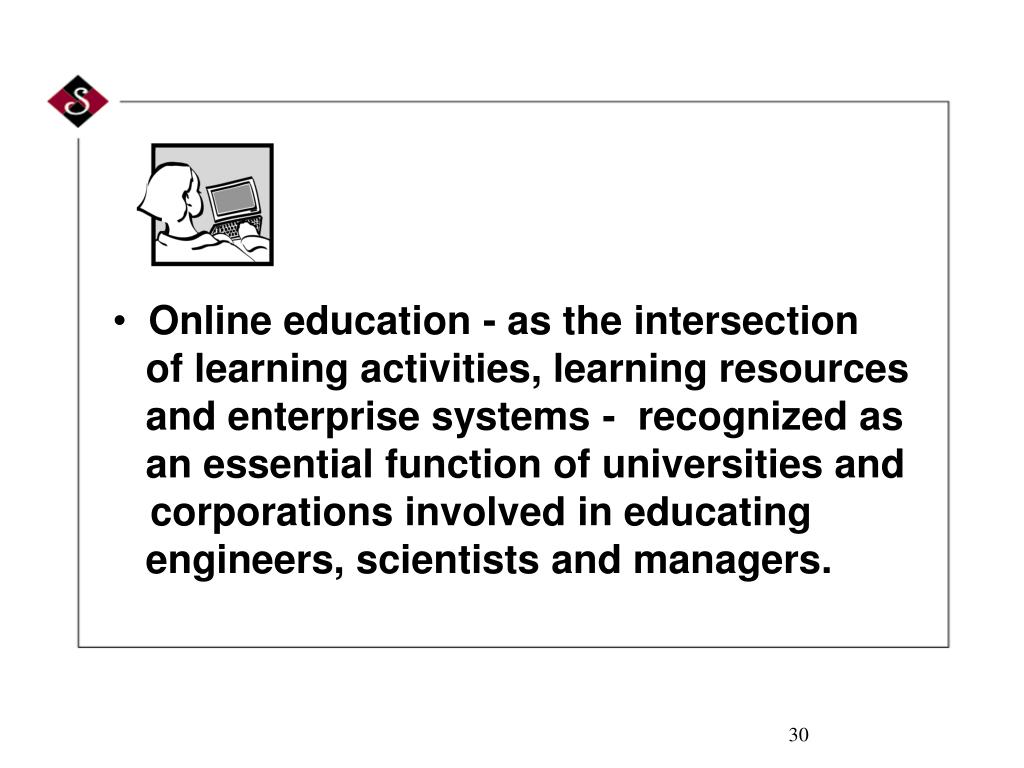 Online education - as the intersection