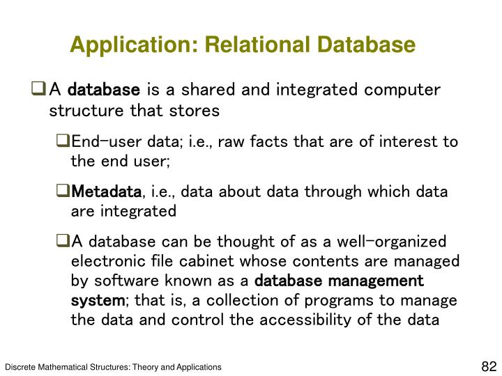 Application: Relational Database
