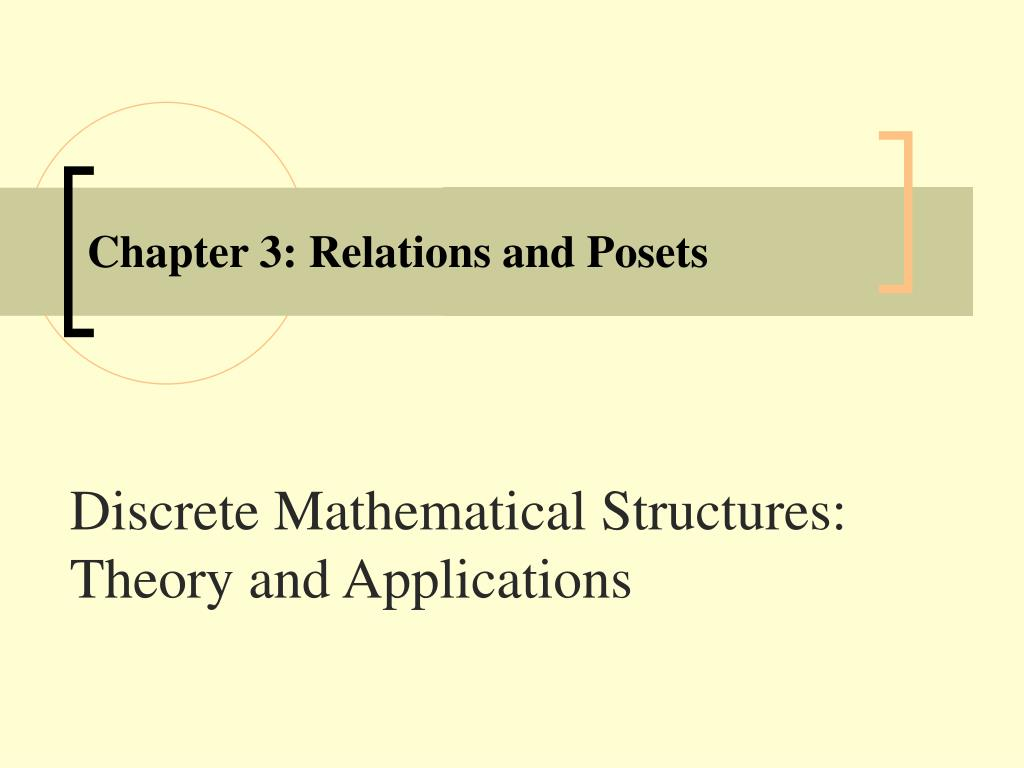 Ppt Chapter 3 Relations And Posets Powerpoint Presentation Free Download Id 264653
