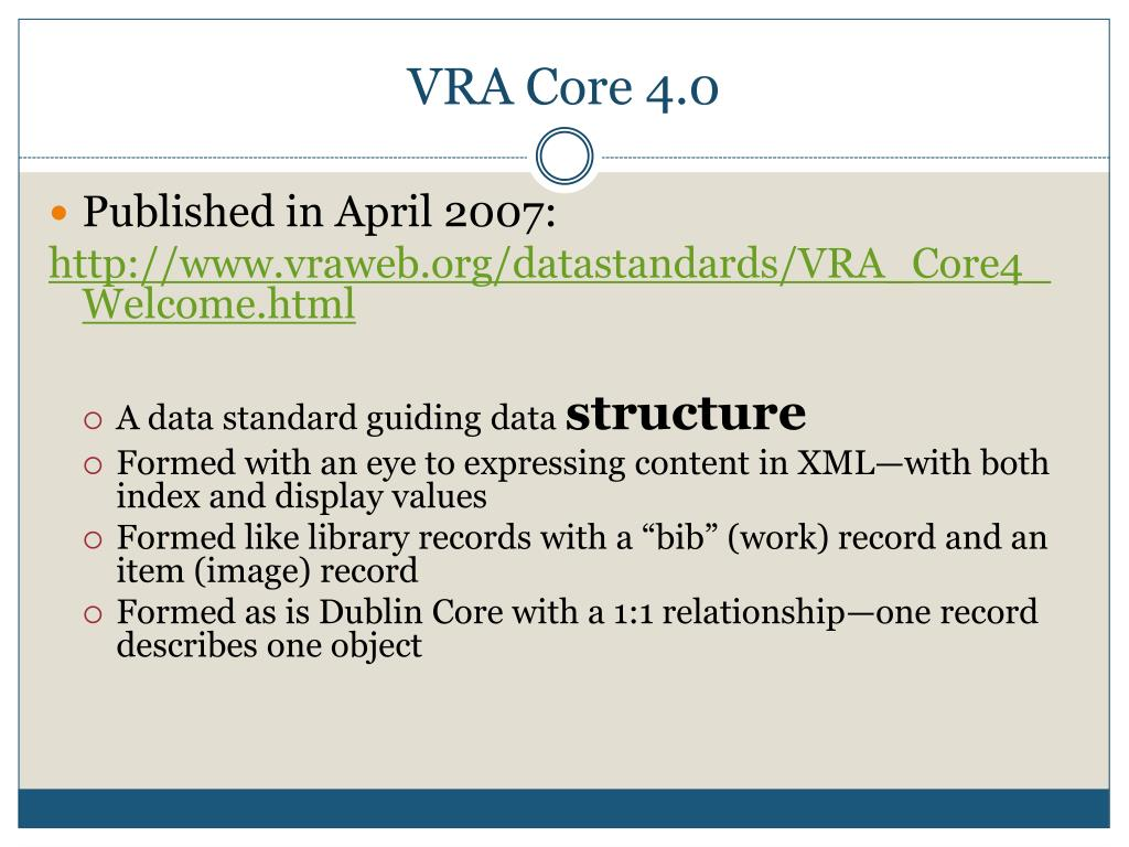VRA Core 4.0