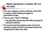 abbott laboratories v gardner 387 u s 136 1967
