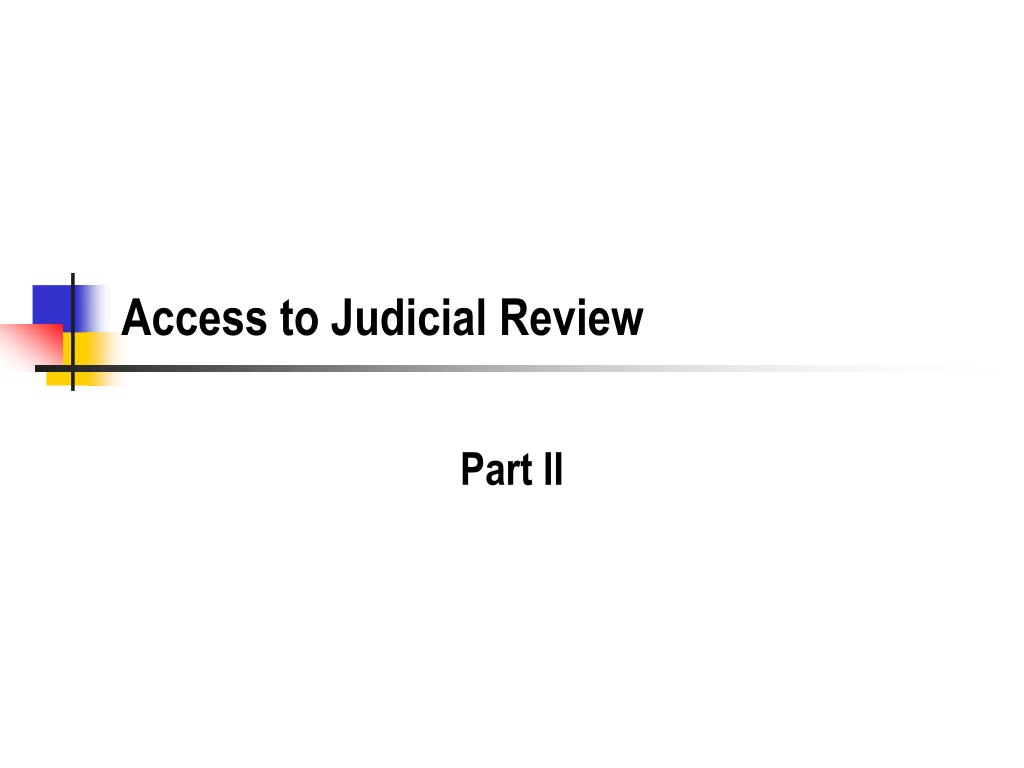 access to judicial review