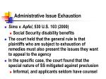 administrative issue exhaustion