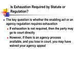 is exhaustion required by statute or regulation