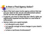 is there a final agency action39