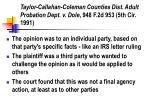 taylor callahan coleman counties dist adult probation dept v dole 948 f 2d 953 5th cir 1991