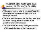 western ill home health care inc v herman 150 f 3d 659 7th cir 1998