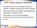 psu online quality standards