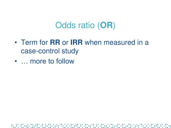 Odds ratio (