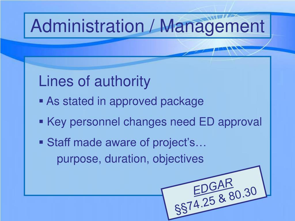 Administration / Management