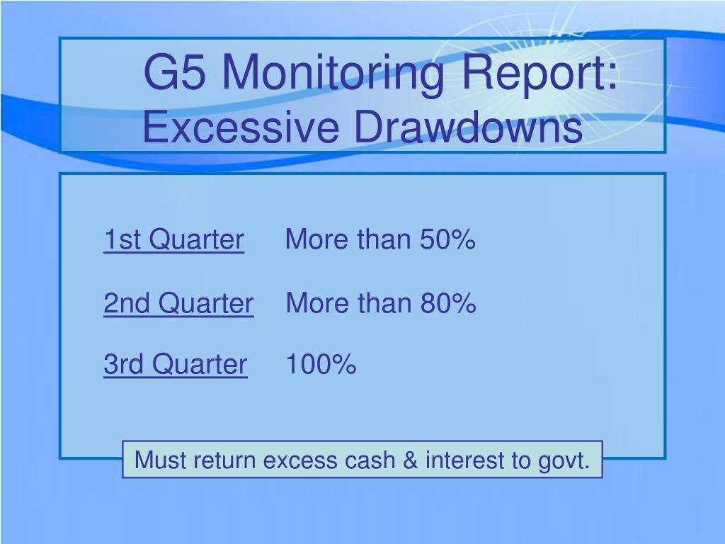 G5 Monitoring Report: