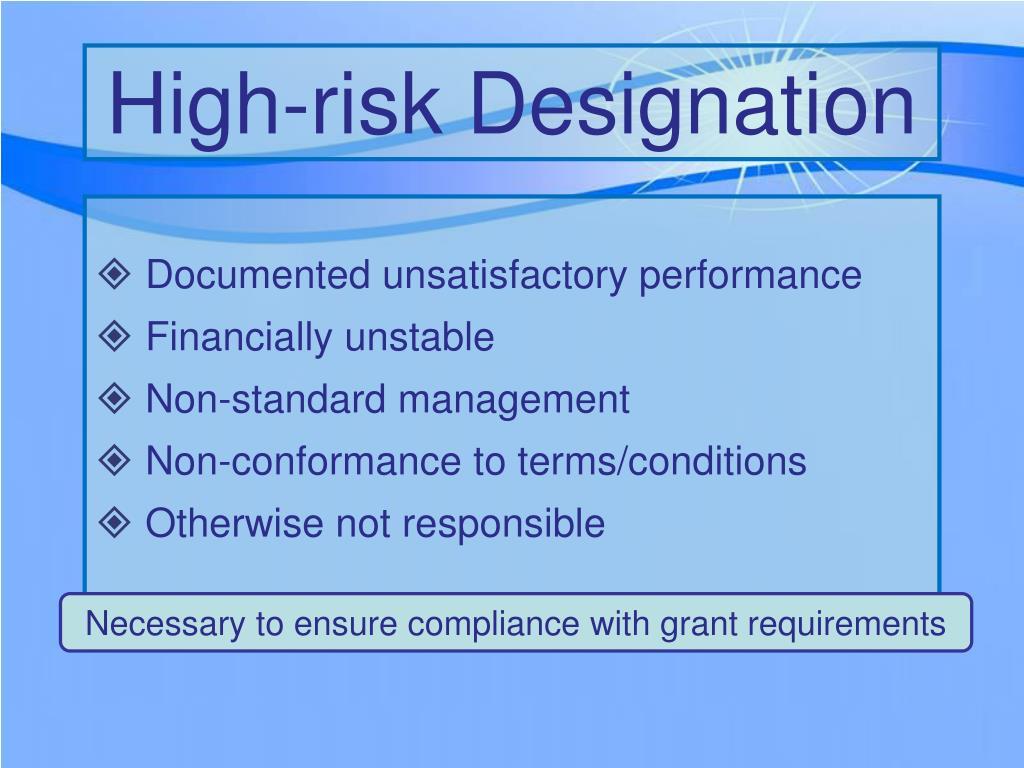High-risk Designation