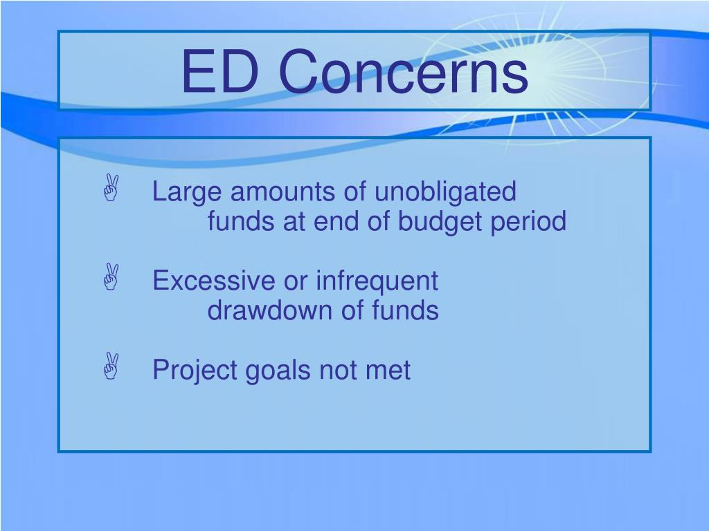 ED Concerns