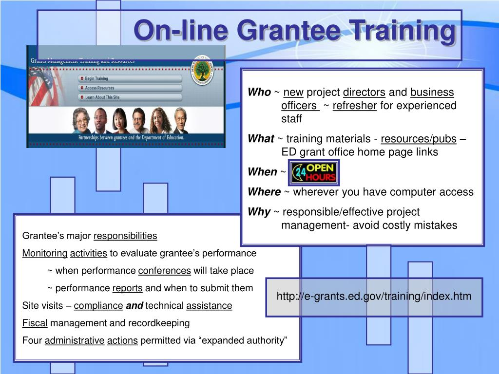 On-line Grantee Training