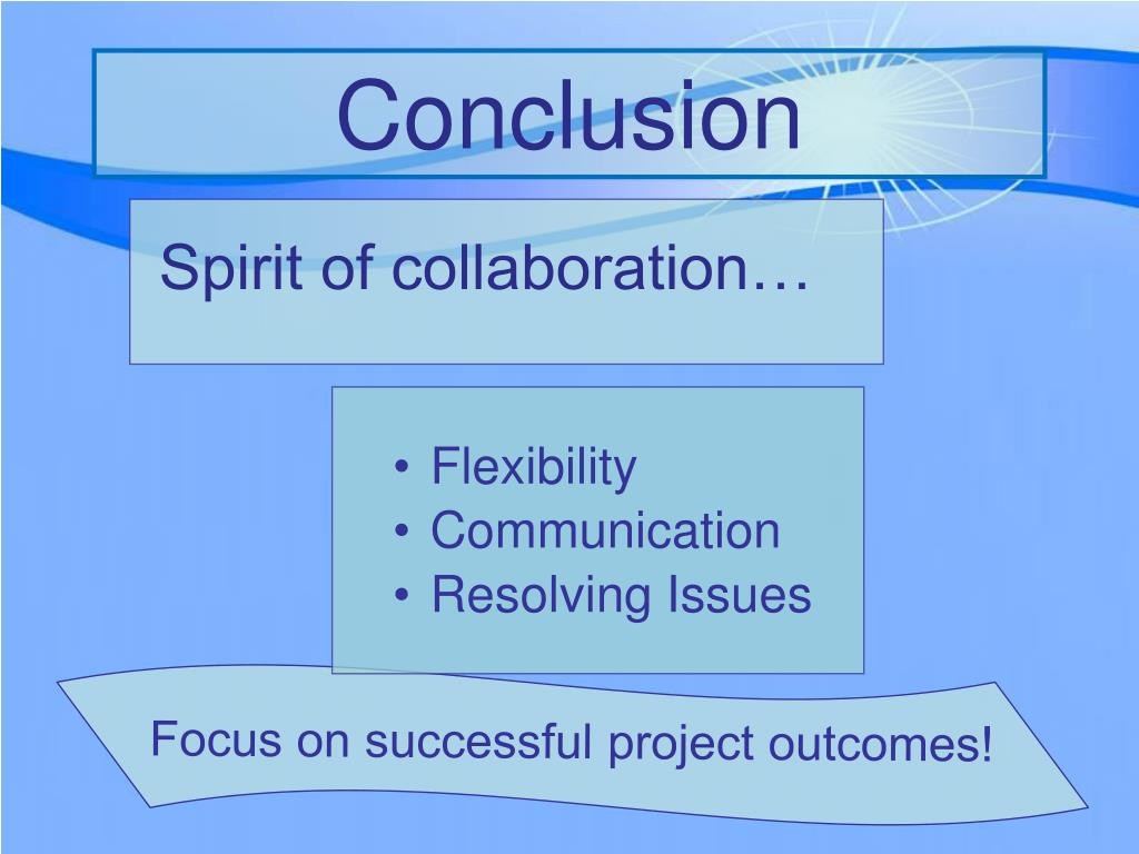 Focus on successful project outcomes!
