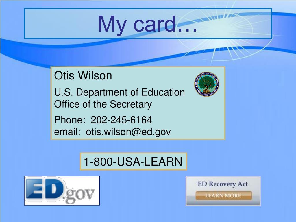 My card…