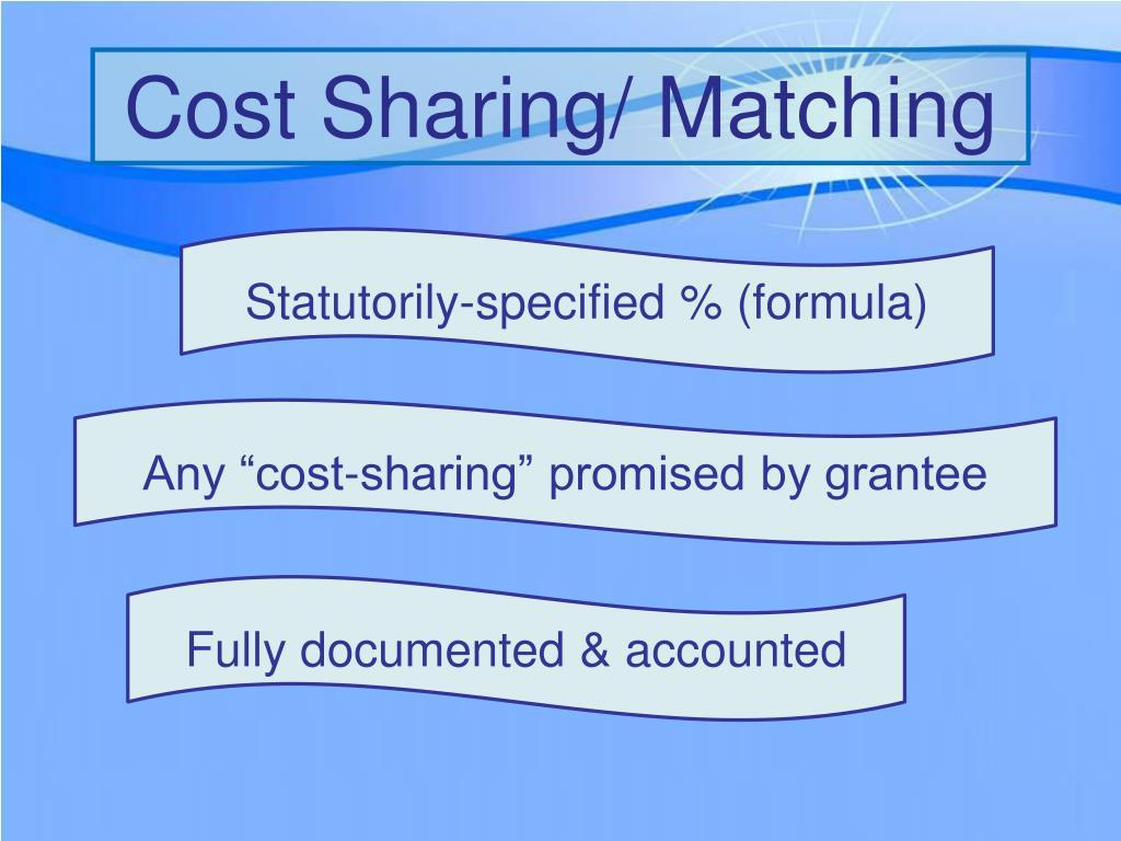 Cost Sharing/ Matching