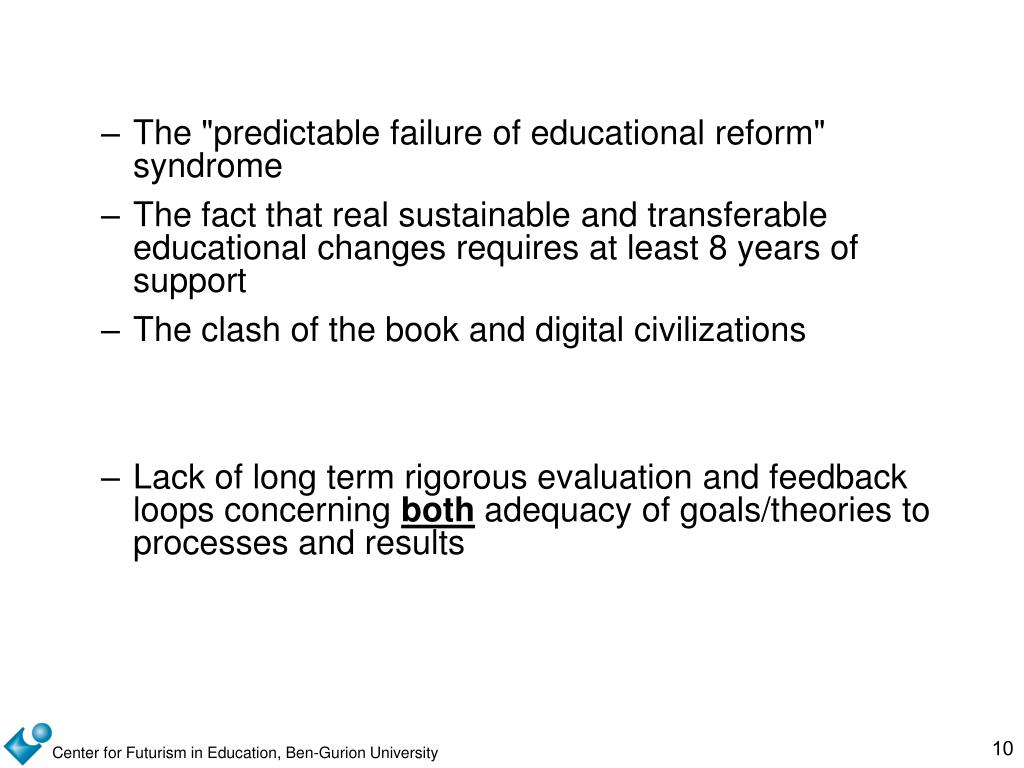 """The """"predictable failure of educational reform"""" syndrome"""