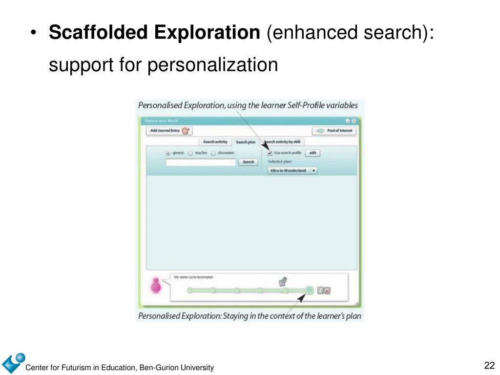 Scaffolded Exploration