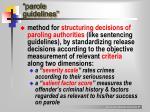 parole guidelines