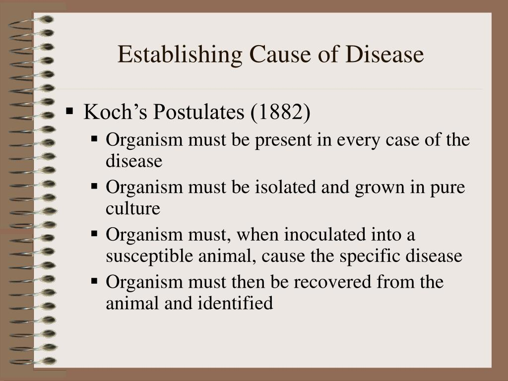 Establishing Cause of Disease