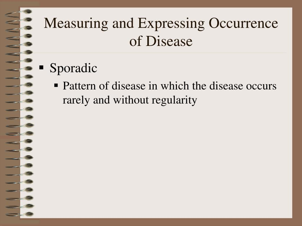 Measuring and Expressing Occurrence of Disease