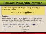binomial probability formula