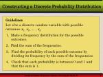 constructing a discrete probability distribution
