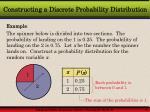 constructing a discrete probability distribution7