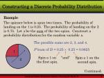 constructing a discrete probability distribution8