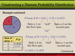 constructing a discrete probability distribution9
