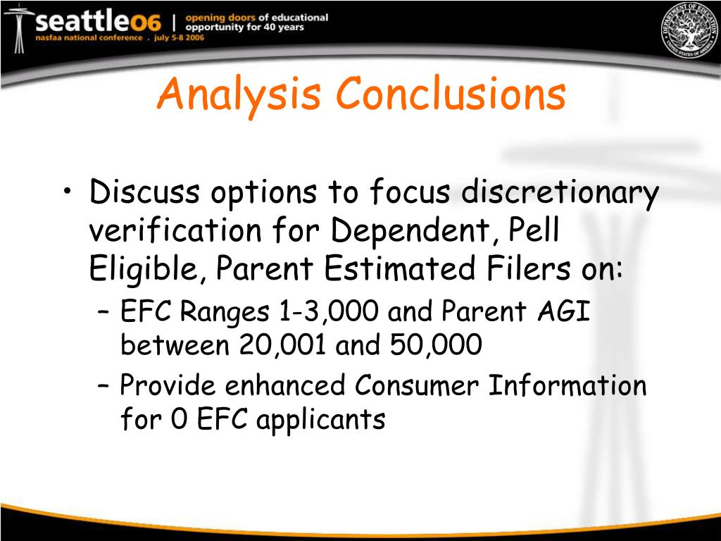 Analysis Conclusions