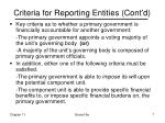 criteria for reporting entities cont d7