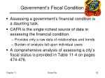 government s fiscal condition