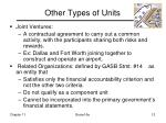 other types of units