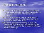 pathogenesis cont