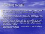 screening for rcc