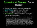 dynamics of disease germ theory